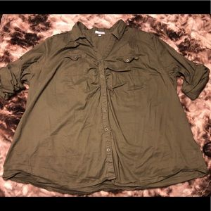 Olive Green button-up shirt